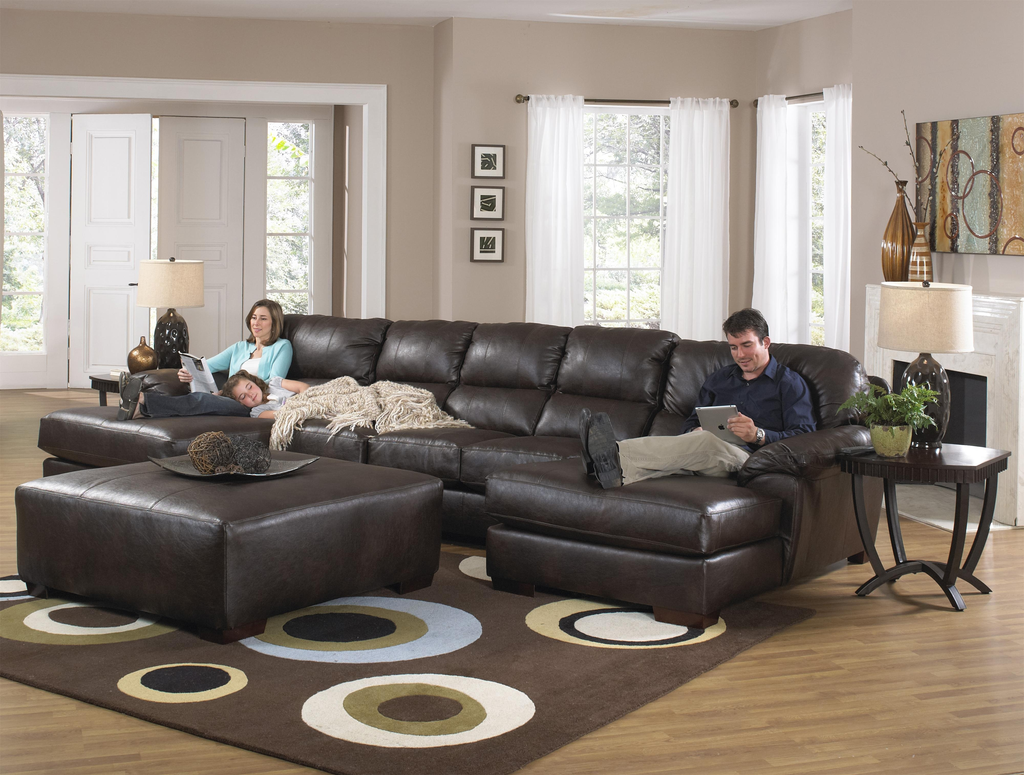 Two Chaise Sectional Sofa With Five Total Seatsjackson Furniture Regarding Sectional Sofas With 2 Chaises (View 2 of 10)