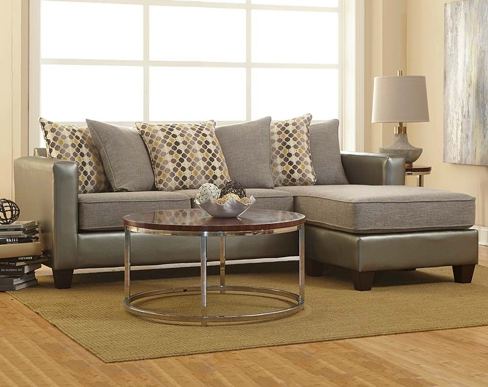 Two Toned In Shades Of Gray, The Quatro Canary 2 Piece Sectional, Is Inside Rooms To Go Sectional Sofas (Image 10 of 10)