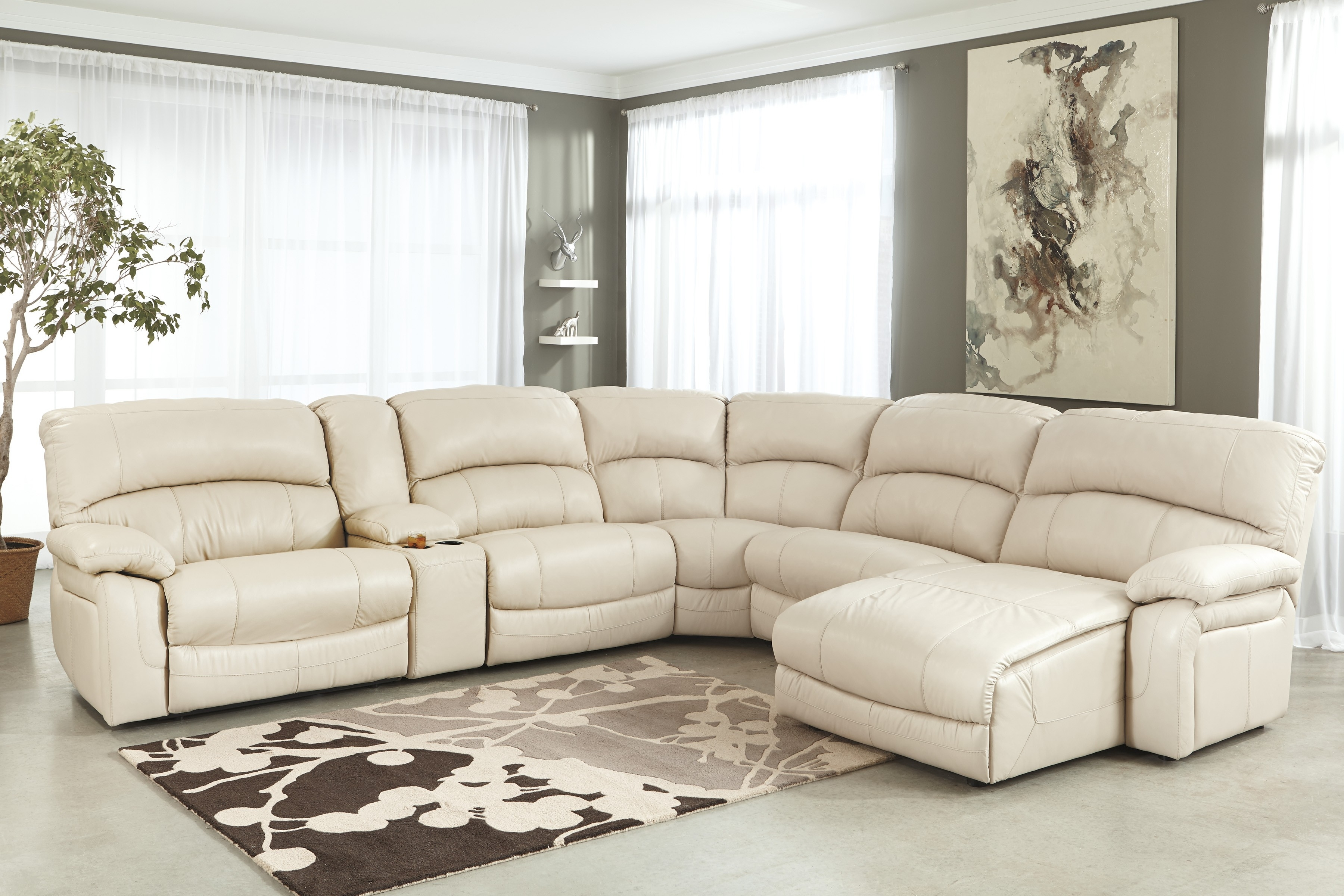 U Shaped Leather Sectional Sofa – 28 Images – Leather Sectional Sofa Intended For U Shaped Leather Sectional Sofas (Photo 2 of 10)