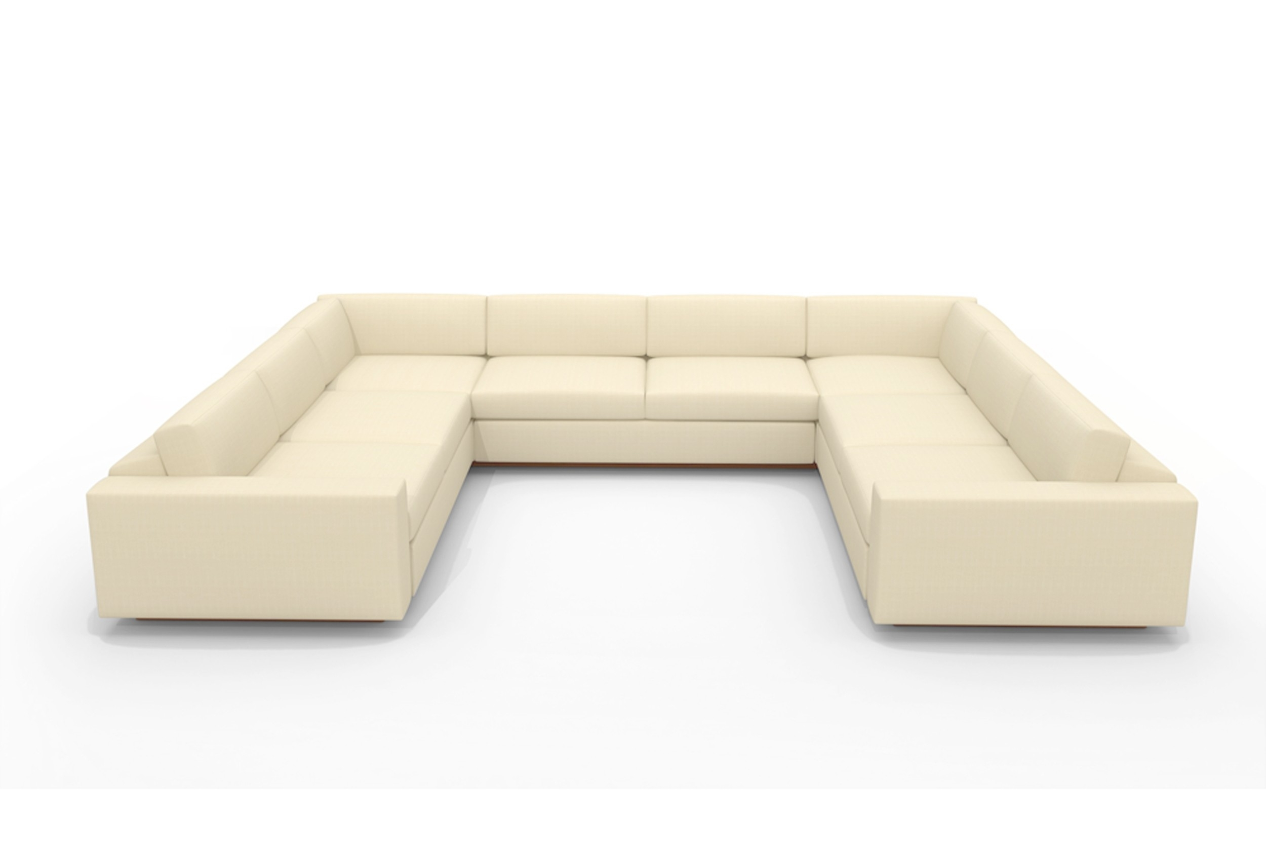 U Shaped White Leather Sectional Sofa With Back And Arm Of Marvelous Throughout U Shaped Leather Sectional Sofas (View 6 of 10)