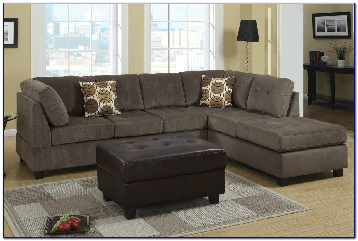 Unbelievable Sofa Mid Century Modern Leather Sectional Ethan Allen With Regard To Modern Microfiber Sectional Sofas (Photo 8 of 10)