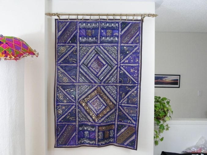 Uncategorized : Fabric Wall Decoration Inside Glorious Fabrics For Purple Fabric Wall Art (Image 13 of 15)