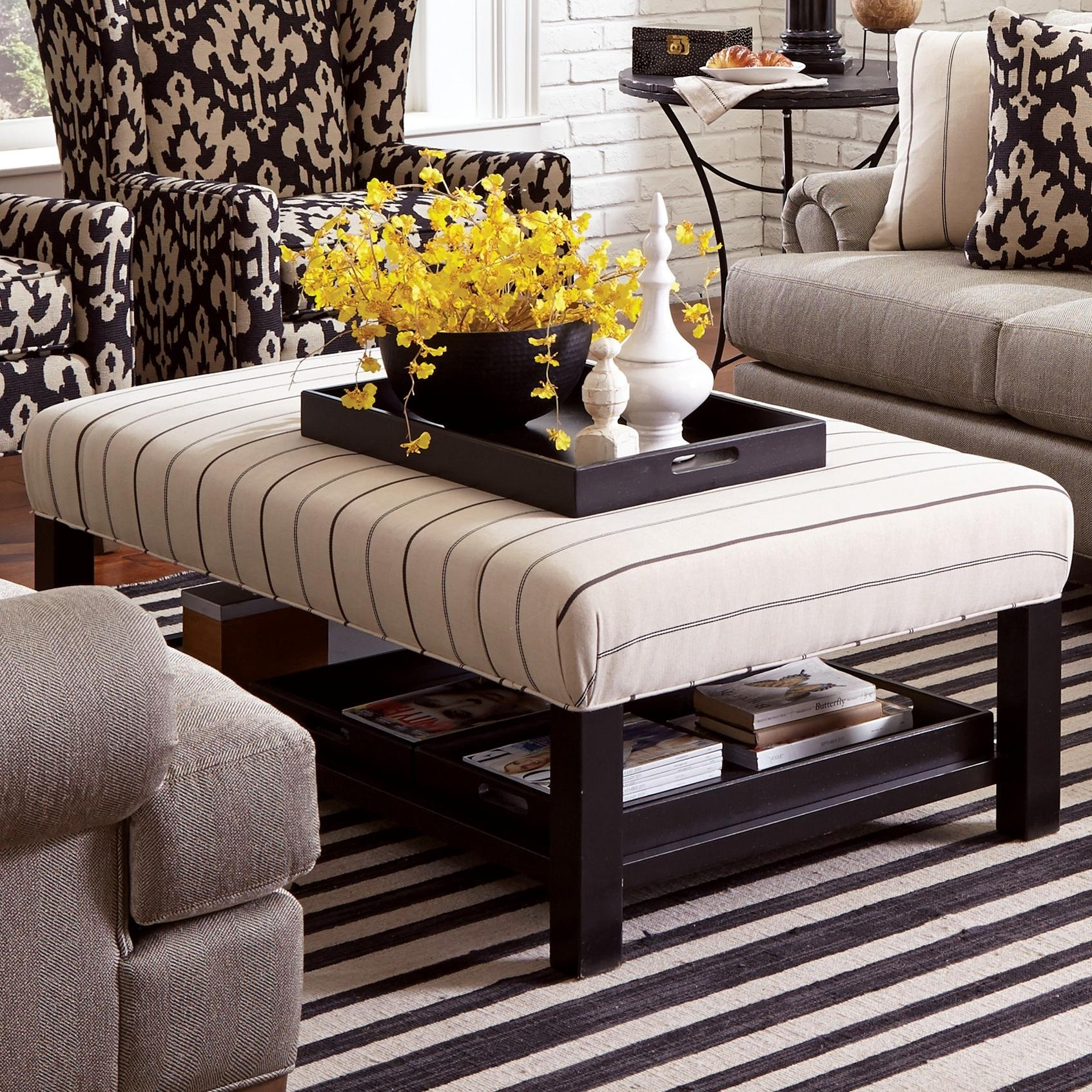 Uncategorized : Ottoman Coffee Table Tray Ideas Within Elegant For Ottomans With Tray (Image 9 of 10)