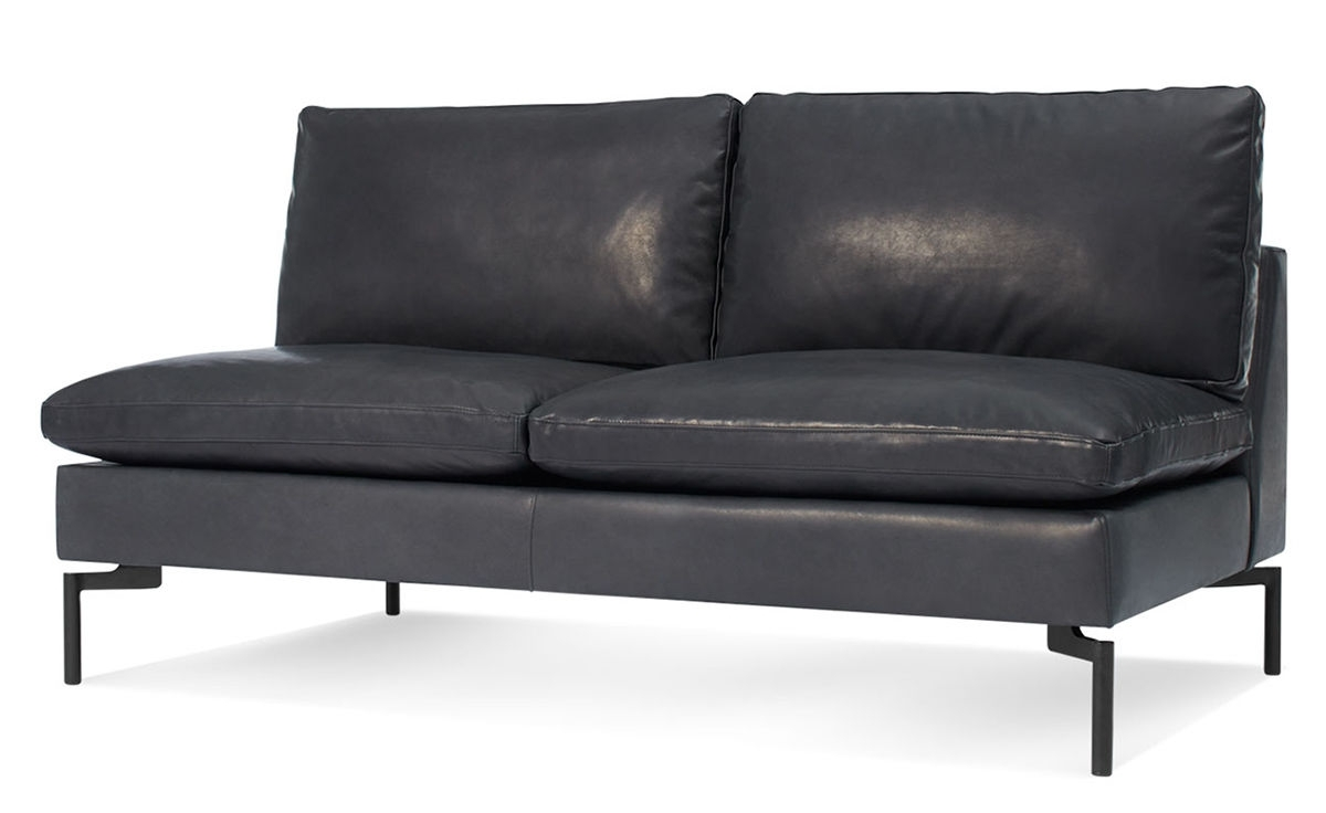 Uncategorized: Remarkable Armless Loveseat Settee Velvet Settee Intended For Small Armless Sofas (Image 9 of 10)