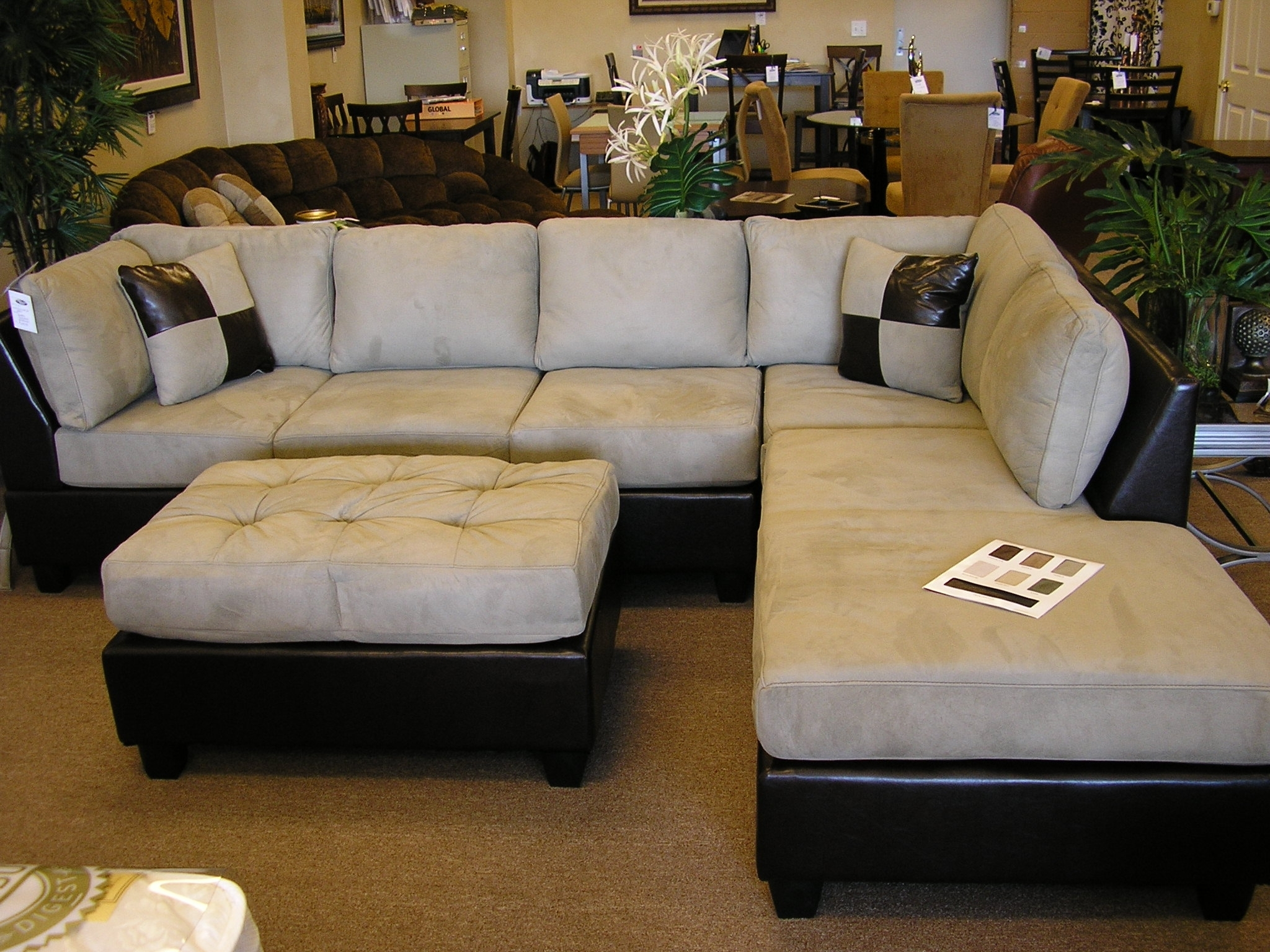Uncategorized : Sectional Ottoman Set Ideas For Lovely Sofa 3 Throughout Sofas With Chaise And Ottoman (View 8 of 10)