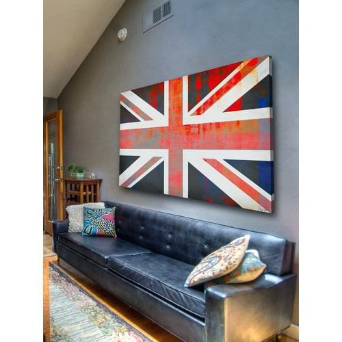 Union Jack Wall Art Union Jack Rock Canvas Wall Art Union Jack pertaining to Union Jack Canvas Wall Art