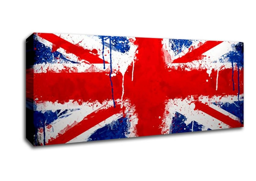 Union Jack World Flags Panoramic Panel Canvas Panoramic Canvas For Union Jack Canvas Wall Art (Image 15 of 15)
