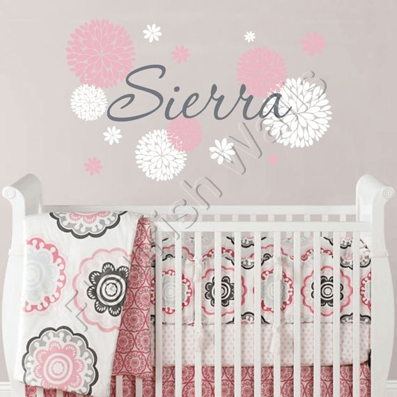 Unique 50+ Girl Nursery Wall Decor Design Decoration Of Best 25+ Pertaining To Girl Nursery Wall Accents (Photo 15 of 15)