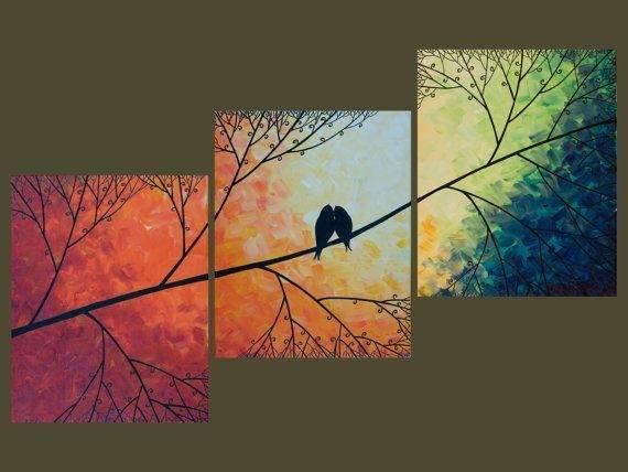 Unique Diy Wall Decor Birds Diy Birds Canvas Art In Birds Canvas Wall Art (Photo 12 of 15)