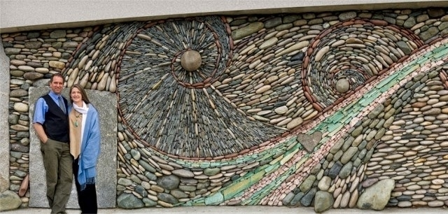 Unique Mosaics Stone Adorn Interior And Exterior Walls | Houzz Home in Abstract Mosaic Art on Wall