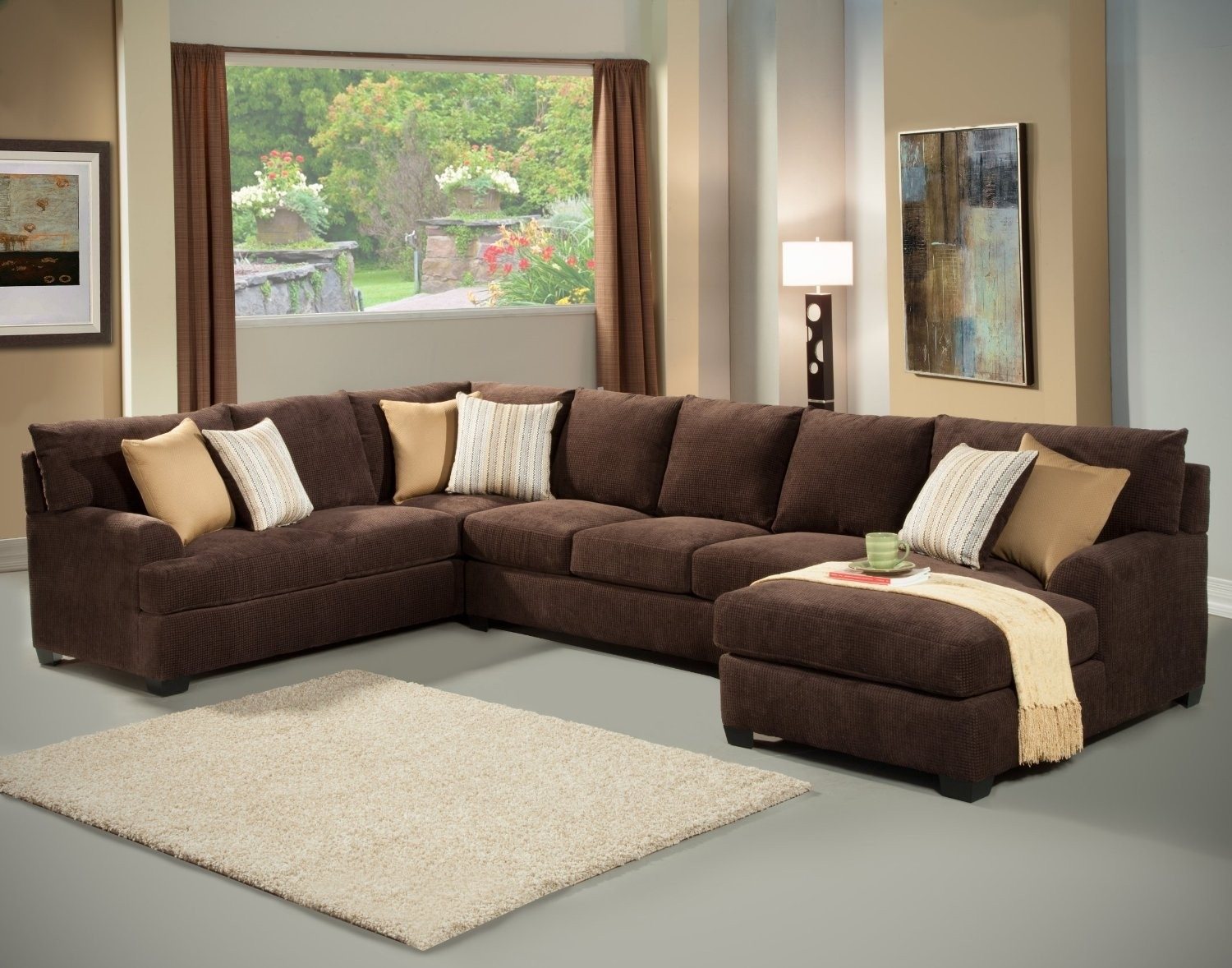 Unique Small Brown Sectional Sofa – Buildsimplehome Intended For Small Sectional Sofas With Chaise And Ottoman (Photo 9 of 10)