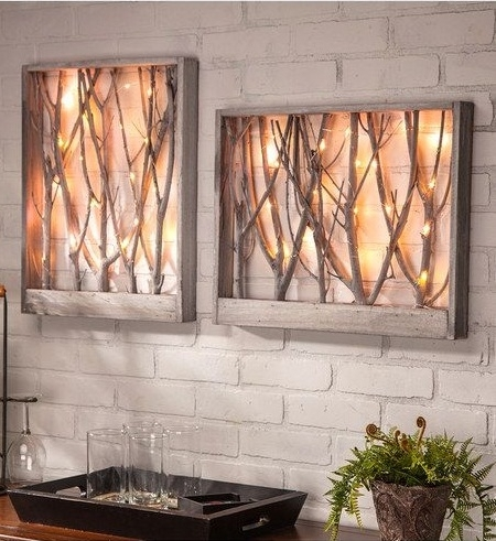 Unique Wood Wall Art Ideas To Accent Wall Artistically | Trends4Us Intended For Wall Art Accents (Image 7 of 15)