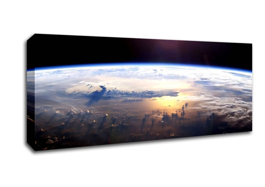 Universe Panoramic Panel Canvas Artwallart Direct.co (View 6 of 15)