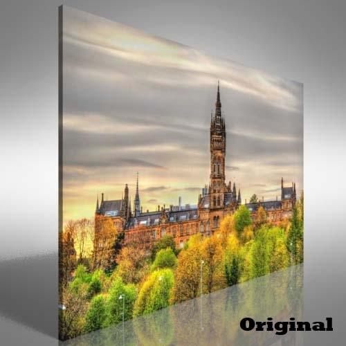 University Of Glasgow Canvas Print Large Picture Wall Art | Ebay for Glasgow Canvas Wall Art