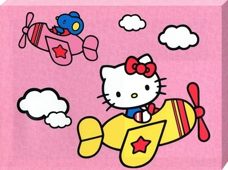 Up And Away With Hello Kitty, Sanrio's Hello Kitty – Popartuk Intended For Hello Kitty Canvas Wall Art (Photo 13 of 15)