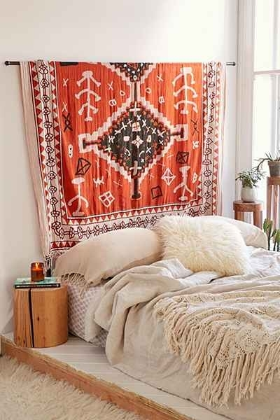 Urbanoutfitters: Awesome Stuff For You & Your Space | Home Within Fabric Wall Art Above Bed (Photo 5 of 15)