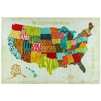 Usa Modern Canvas Wall Decor | Hobby Lobby | 964551 With Canvas Wall Art At Hobby Lobby (Photo 4 of 15)