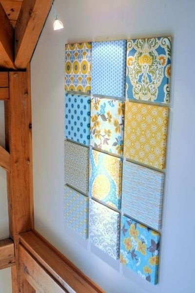 Use Fabric As Wall Art (View 6 of 15)