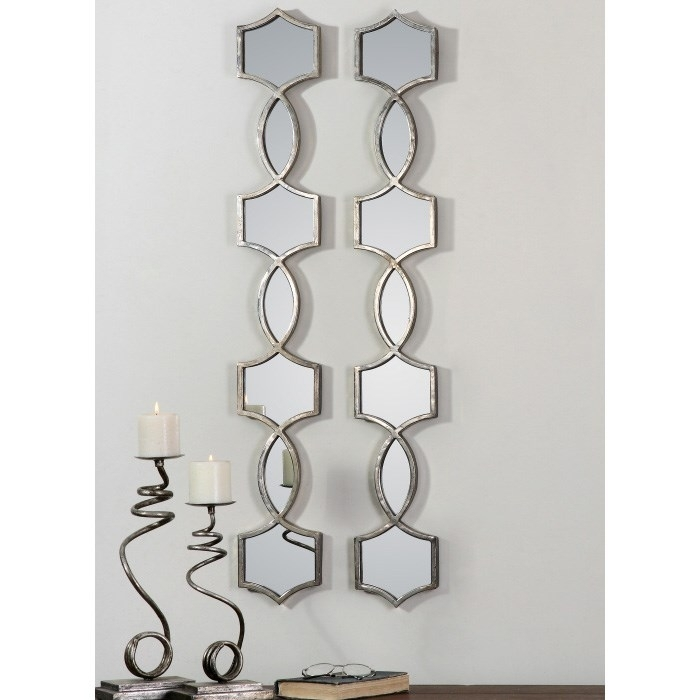 Uttermost 12856 Set Of 2 Vizela Mirror In Oxidized Silver In Mirror Sets Wall Accents (Image 11 of 15)