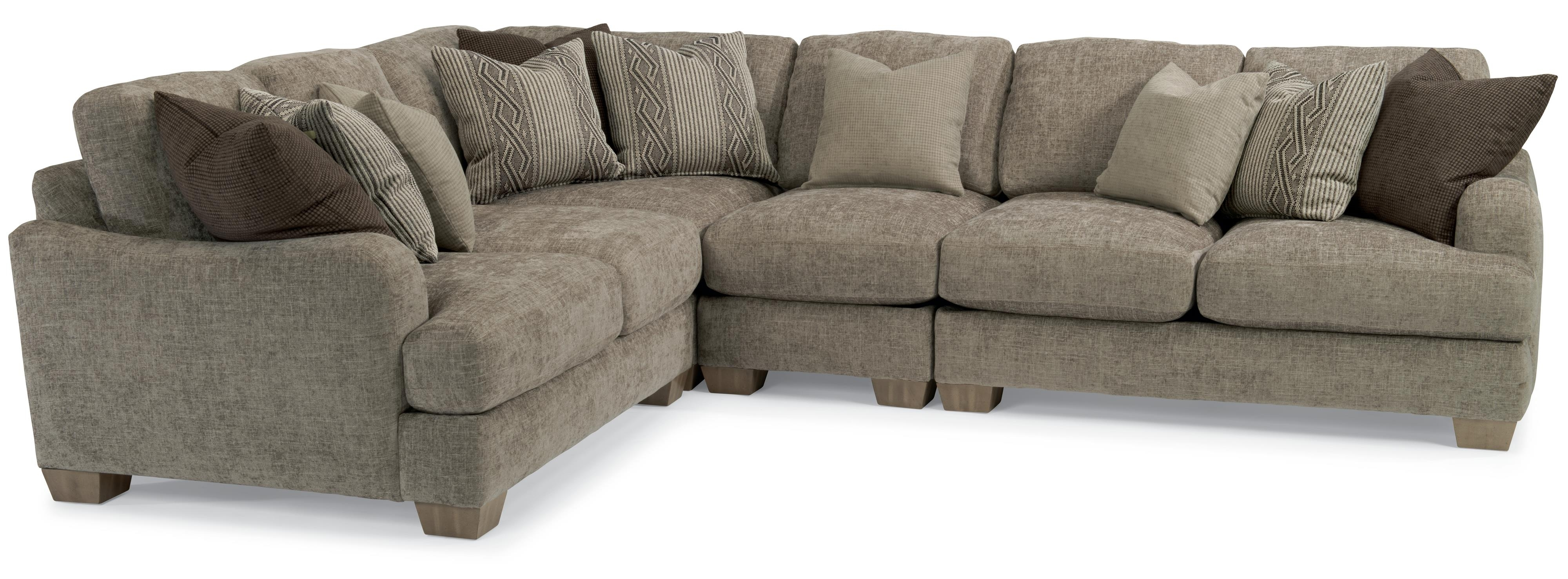 Vanessa Sectional Sofa With Loose Pillow Backflexsteel | Living Throughout Nova Scotia Sectional Sofas (Image 10 of 10)