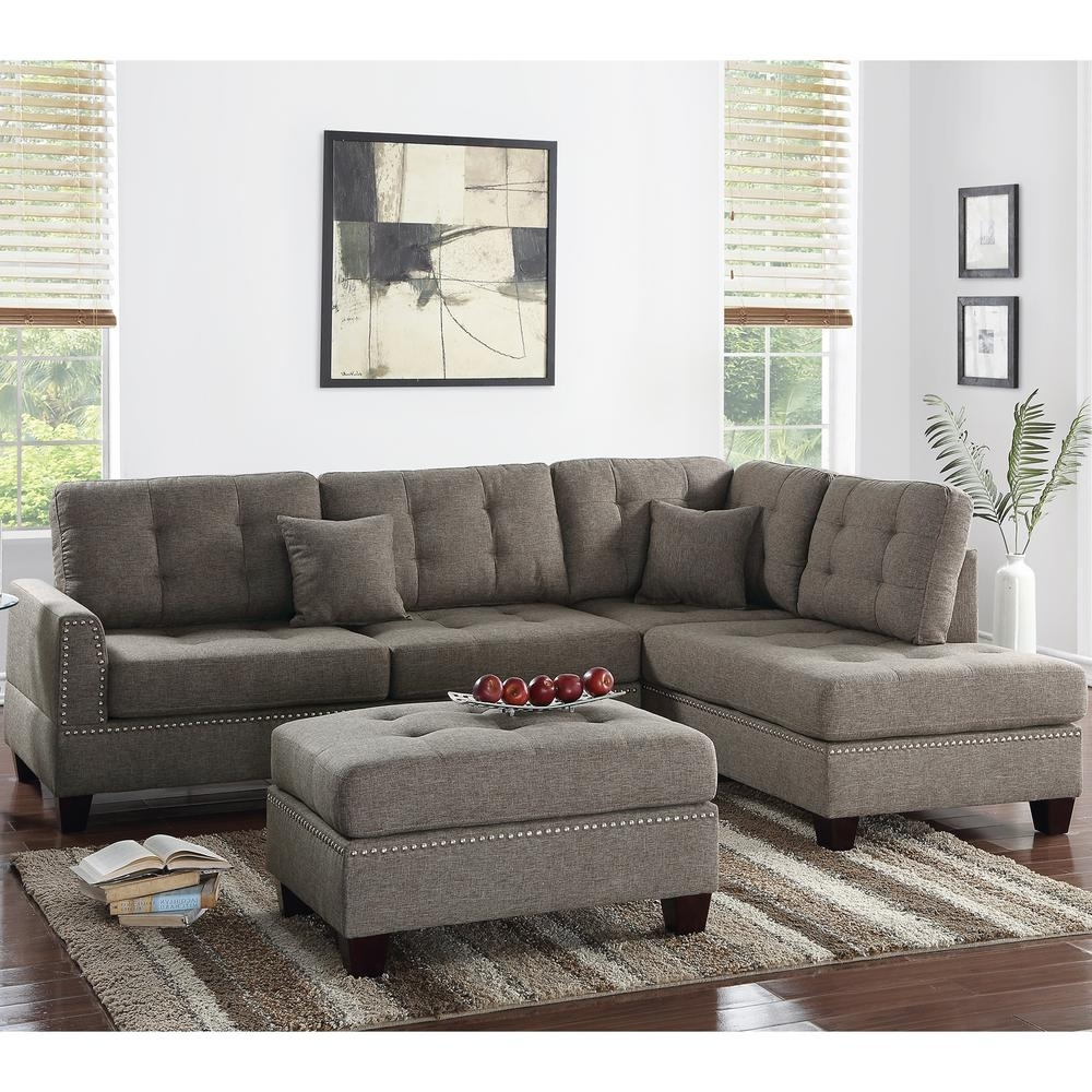 Venetian Worldwide Barcelona 3 Piece Coffee Sectional Sofa With Regarding Home Depot Sectional Sofas (Image 7 of 10)