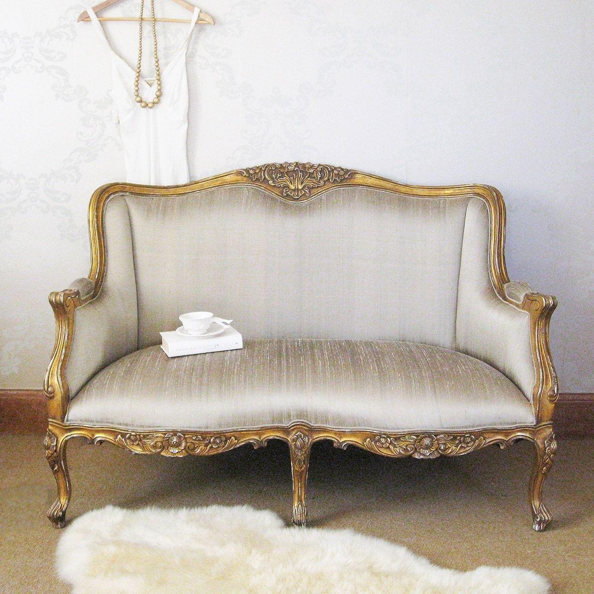 Versailles Gold Bedroom Sofa | Bedroom Sofa, Versailles And Sofa Sofa Pertaining To Bedroom Sofas (View 5 of 10)