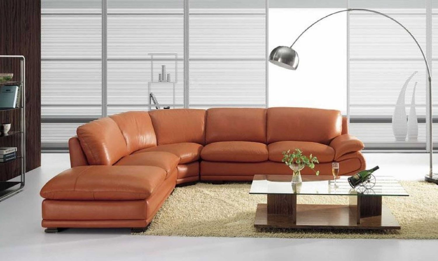 Vig Furniture Bo 3920 Leather Modern Camel Sectional Sofa For Camel Sectional Sofas (Image 10 of 10)