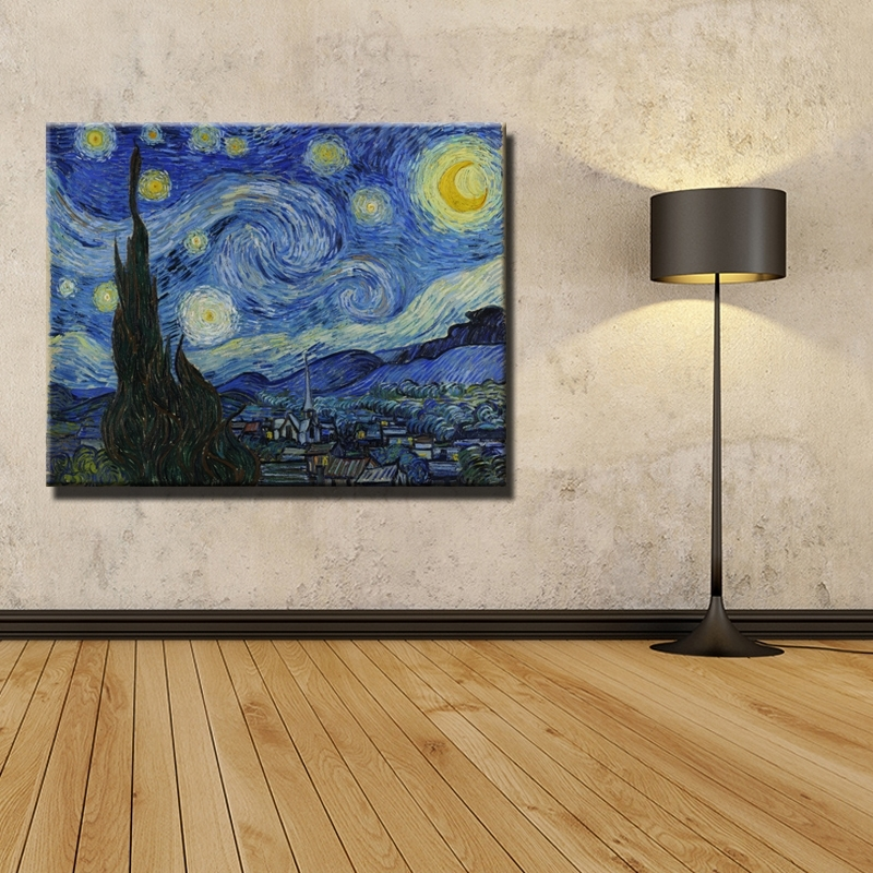 Vincent Van Gogh Masters Starry Night Painting Reputation Wall Art With Regard To Masters Canvas Wall Art (View 9 of 15)
