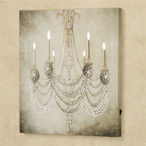 Vintage Chandelier Led Lighted Canvas Art In Chandelier Canvas Wall Art (View 12 of 15)