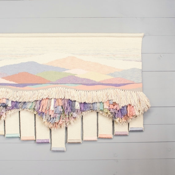 Vintage Weaving Wall Hanging – Textile Fiber Art – Bohemian Woven Within Woven Textile Wall Art (View 12 of 15)