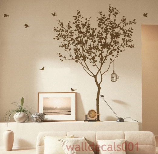 Vinyl Tree Decals Wall Decals Wall Stickers Wall Art Wall Decals In Adhesive Art Wall Accents (View 6 of 15)