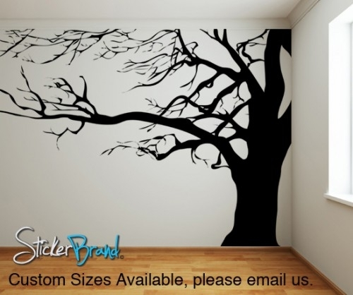 Vinyl Wall Decal Sticker Large Spooky Tree Ac122 | Wall Decal Throughout Vinyl Wall Accents (Image 10 of 15)