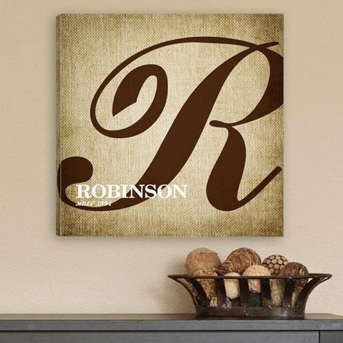 Wall Art: 10 The Best Idea Personalized Canvas Wall Art Canvas With Regard To Personalized Fabric Wall Art (Image 15 of 15)