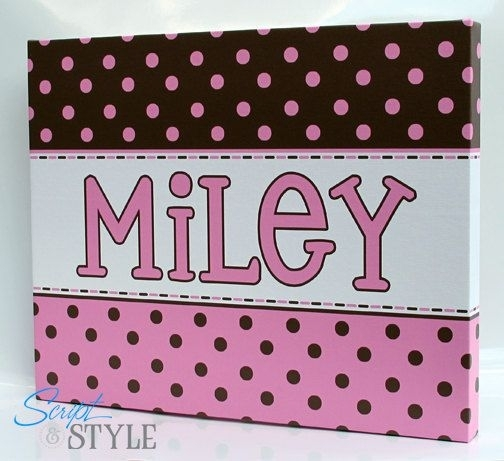 Wall Art: Adorable Gallery Name Canvas Wall Art Personalized Regarding Baby Names Canvas Wall Art (Image 14 of 15)