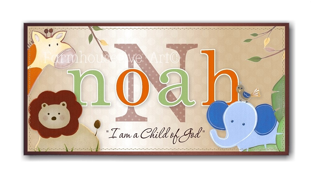 Wall Art: Adorable Gallery Name Canvas Wall Art Personalized Within Baby Names Canvas Wall Art (Image 15 of 15)