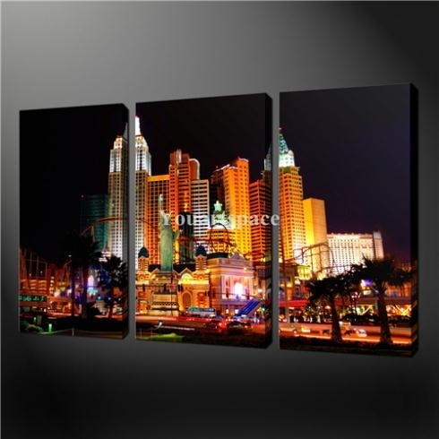 Wall Art: Beautiful Pictures Gallery Of Las Vegas Wall Art Las Intended For Las Vegas Canvas Wall Art (View 11 of 15)