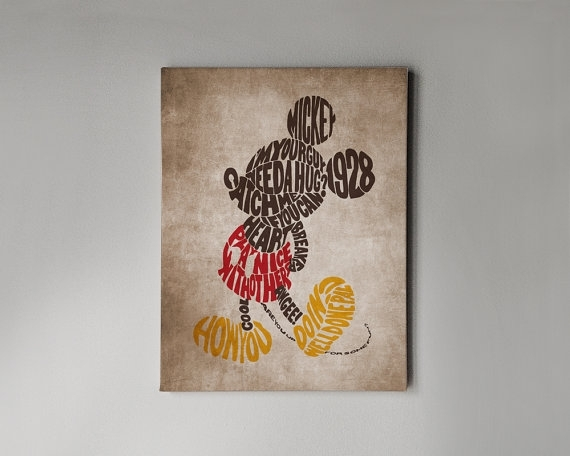 Featured Image Of Mickey Mouse Canvas Wall Art