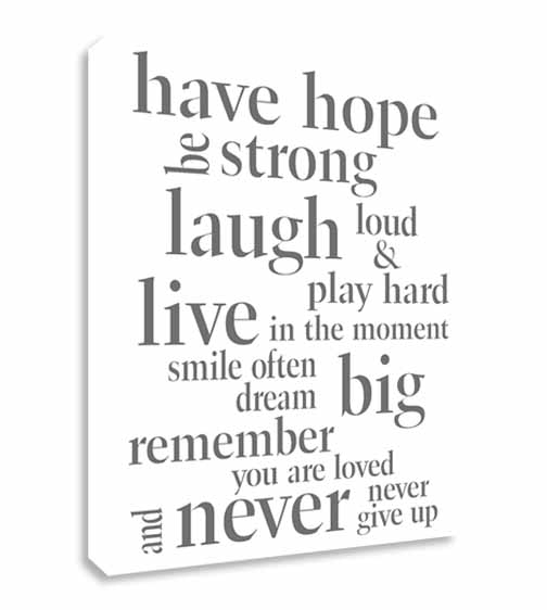 Wall Art: Collection Sample Inspirational Canvas Wall Art Intended For Love Quotes Canvas Wall Art (Image 14 of 15)
