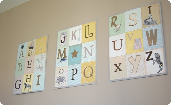 Wall Art Decor: Appealing Alphabet Wall Art Nursery Baby, Nursery Pertaining To Letters Canvas Wall Art (View 7 of 15)