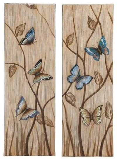 Wall Art Decor: Awesome Butterfly Canvas Wall Art Astounding Best In Butterflies Canvas Wall Art (Image 13 of 15)