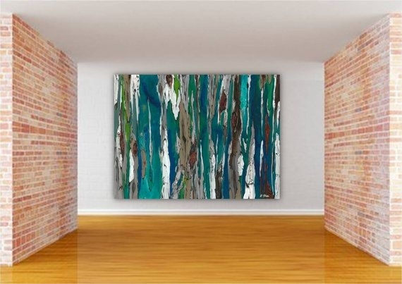 Wall Art Decor: Colorful Landscape Oversized Abstract Wall Art Inside Canvas Wall Art At Walmart (Image 7 of 15)