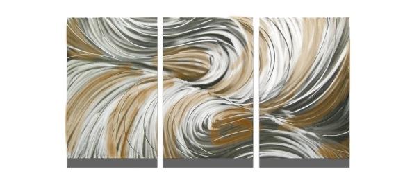Wall Art Decor: Echo Bronze Textured Wall Art Sculpture Metal Base For Textured Fabric Wall Art (View 13 of 15)