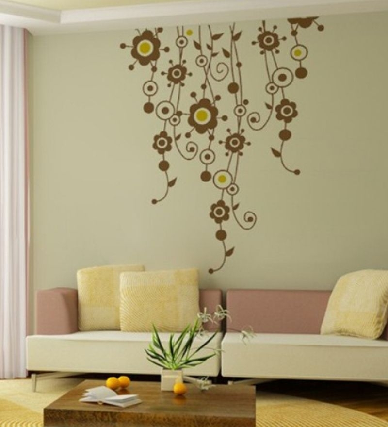 Wall Art Decor Floral Vines Sticker Online Tags Stickers Rss Feeds Pertaining To Flowers Wall Accents (View 11 of 15)