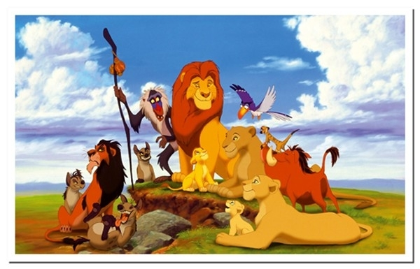 Wall Art Decor Ideas: Astounding Lion King Canvas Wall Art, Lion Intended For Lion King Canvas Wall Art (Image 13 of 15)