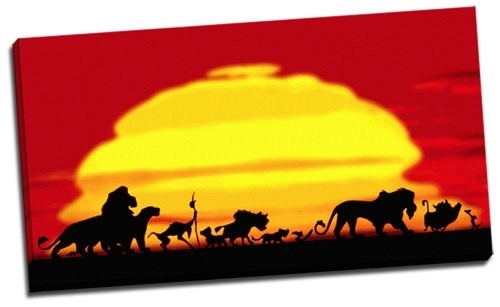 Wall Art Decor Ideas: Astounding Lion King Canvas Wall Art, Lion Pertaining To Lion King Canvas Wall Art (Image 14 of 15)