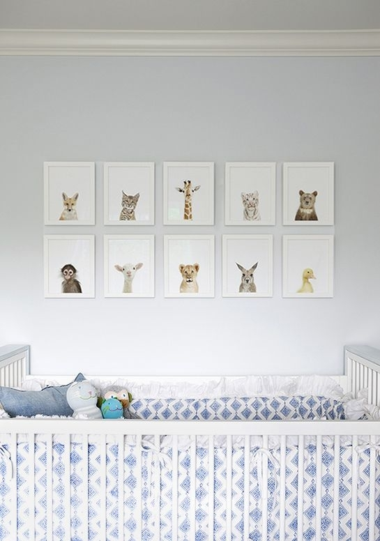 Wall Art Decor Ideas: Attractive Created Animal Nursery Wall Art Inside Nursery Wall Accents (View 5 of 15)