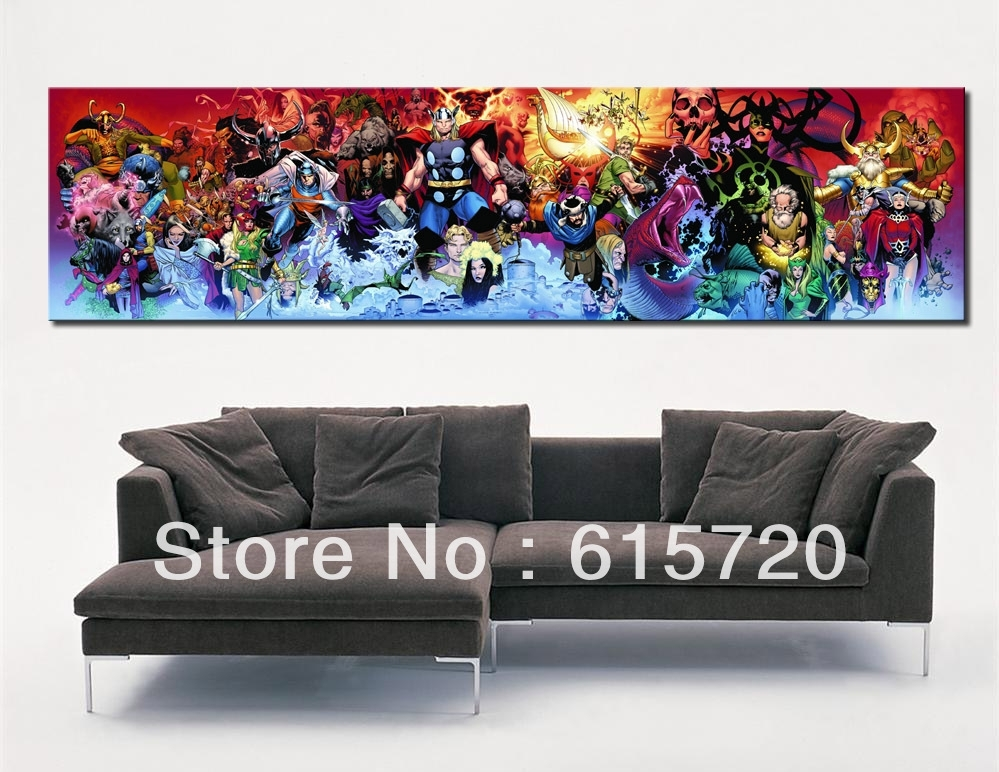 Wall Art Decor Ideas: Awesome Marvel Wall Art Canvas, Vintage With Regard  To Marvel