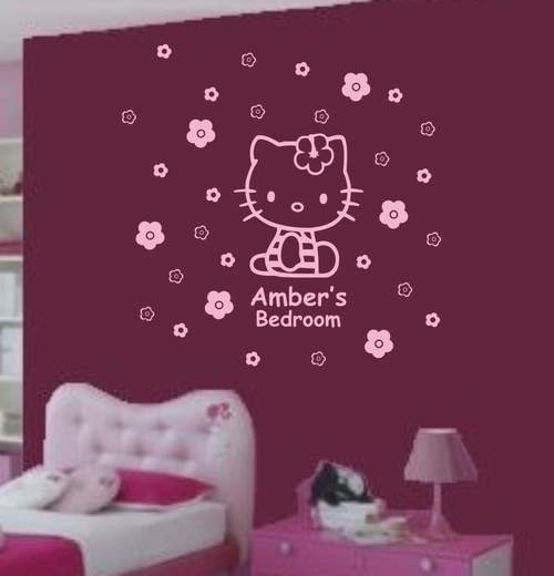 Wall Art Decor Ideas: Canvas Borderless Hello Kitty Wall Art Hand For Hello Kitty Canvas Wall Art (View 15 of 15)