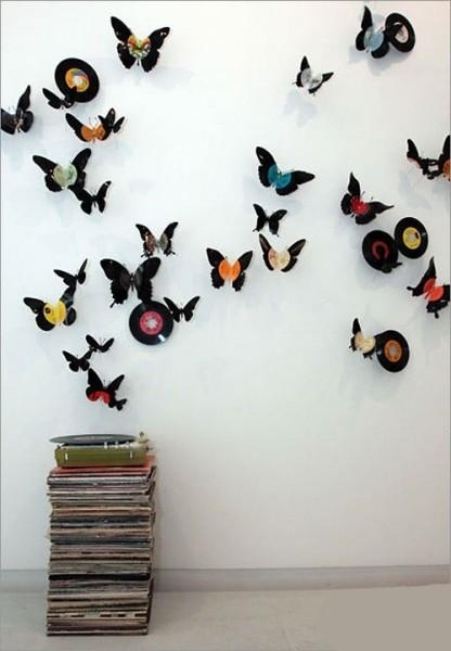 Wall Art Decor Ideas: Fabric Rear Butterfly Wall Art Diy Materials With Fabric Butterfly Wall Art (Image 14 of 15)