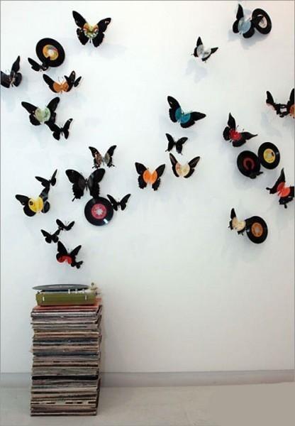 Wall Art Decor Ideas: Fabric Rear Butterfly Wall Art Diy Materials With Fabric Butterfly Wall Art (Image 14 of 15)